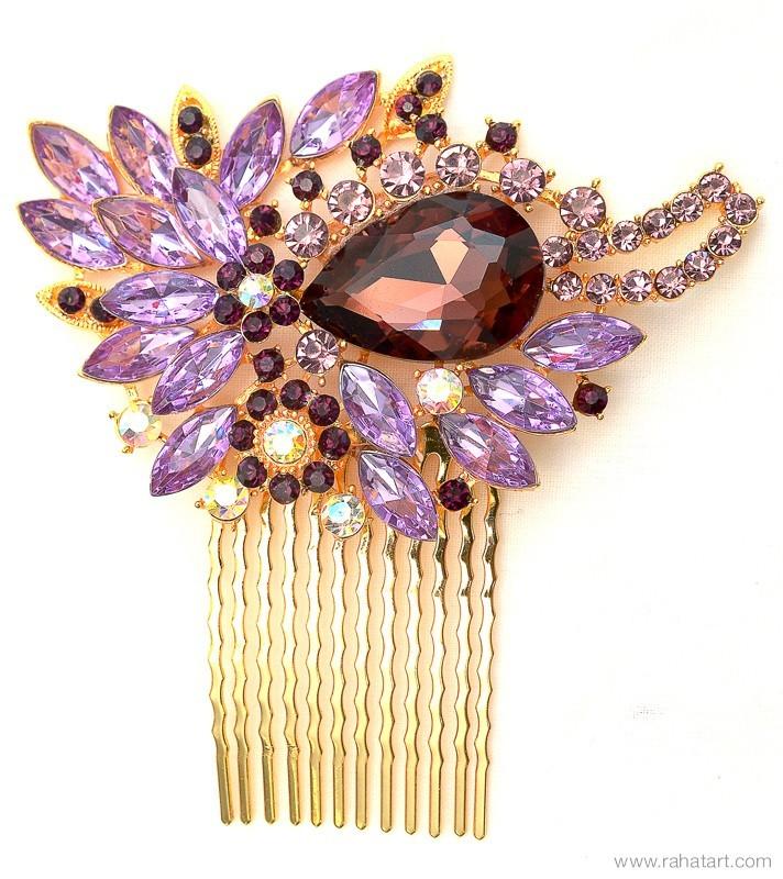 Jewel Stone Hair Comb