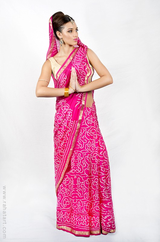Traditional Printed Sari