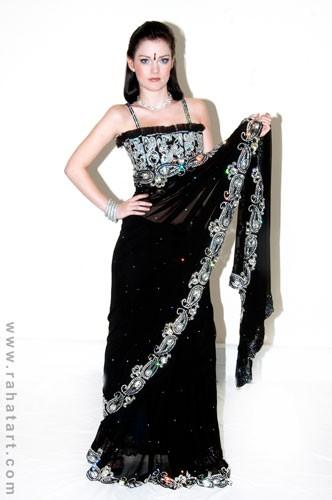 Midnight Sparkle Sari
