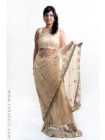 Metallic Gold Sari