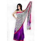 Zebra Print Sari