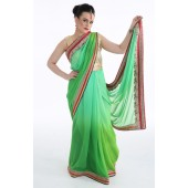 Tropical Green Sari