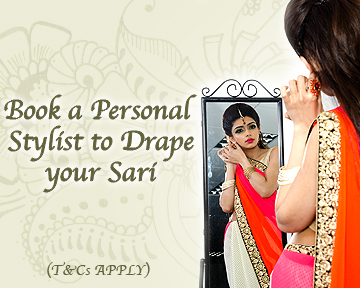 Book a personal stylish to drape your sari