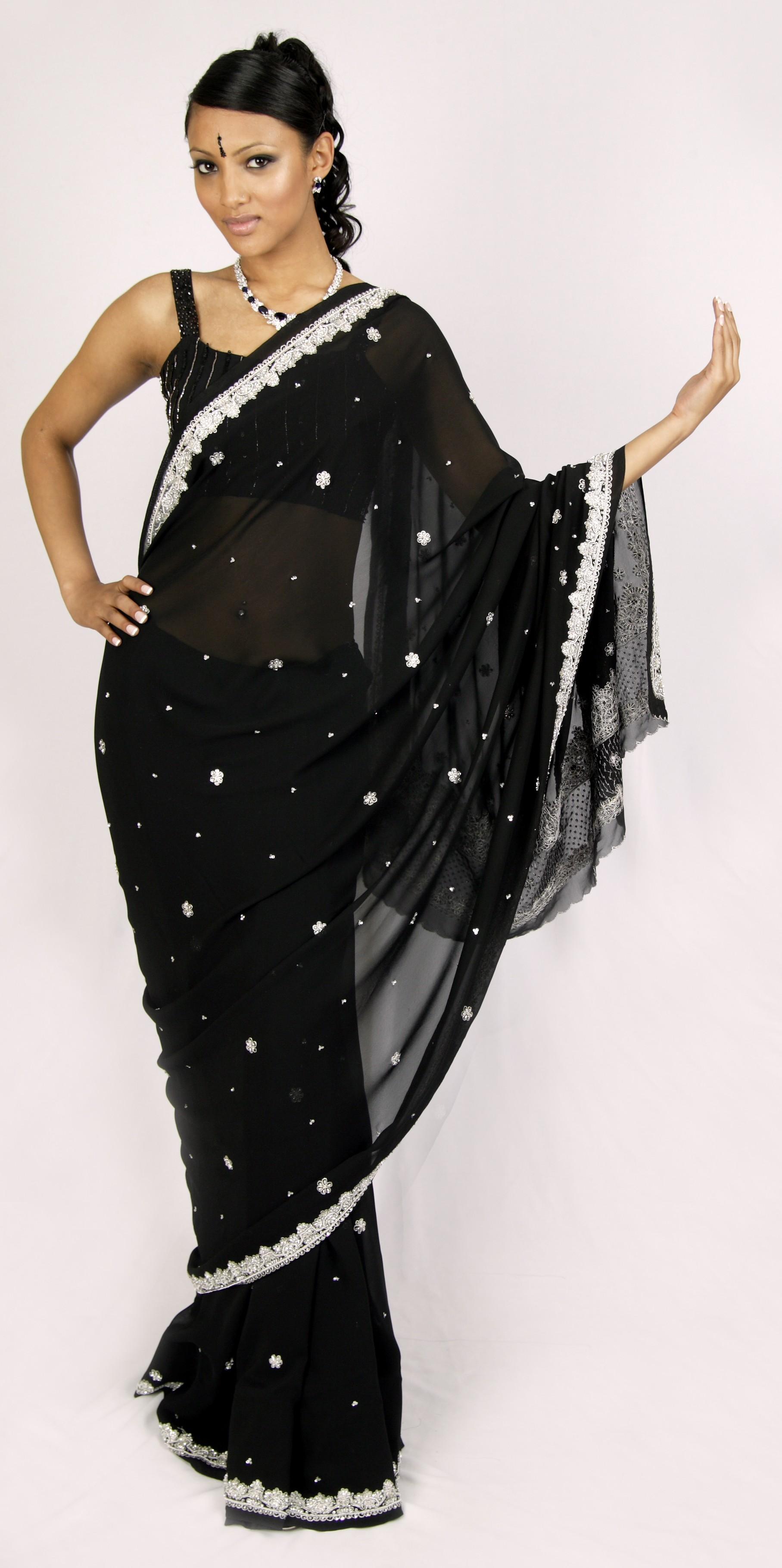 Moonlight Mist Sari