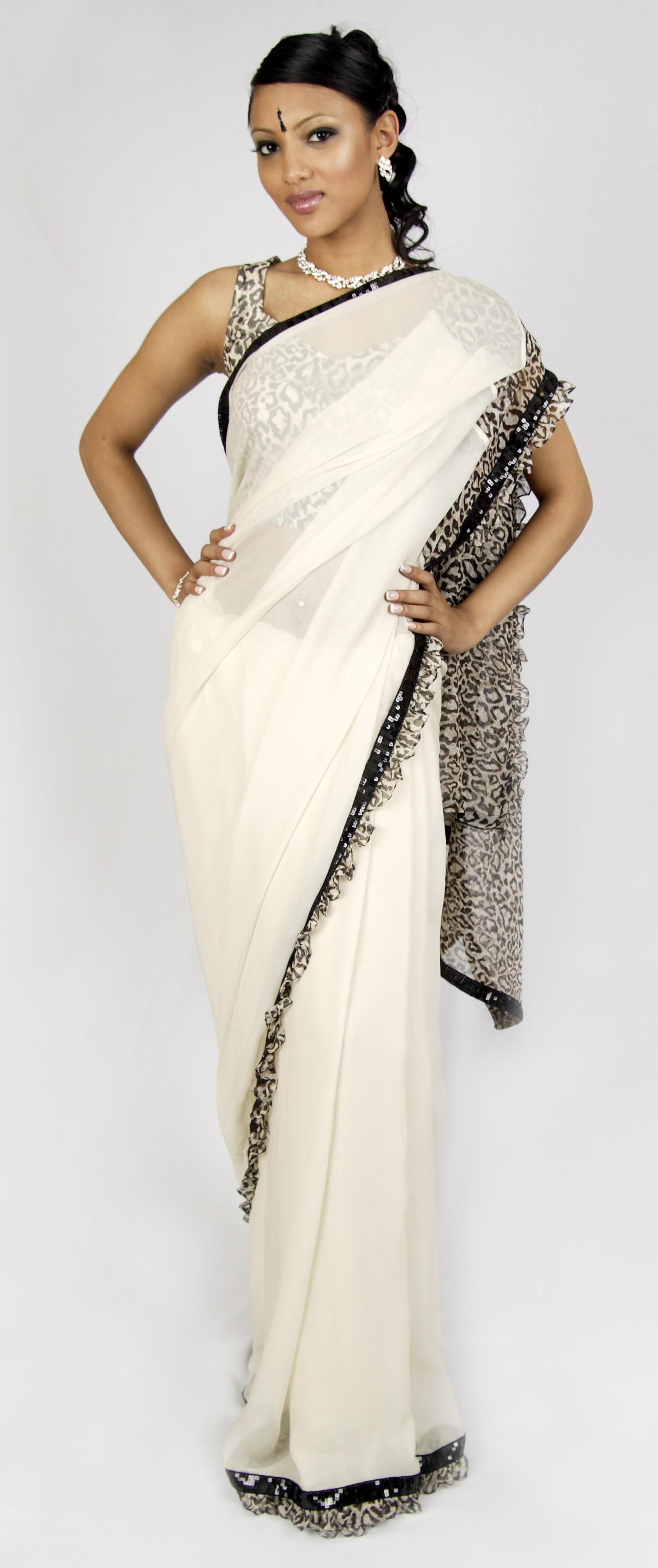 Dashing Animal Sari