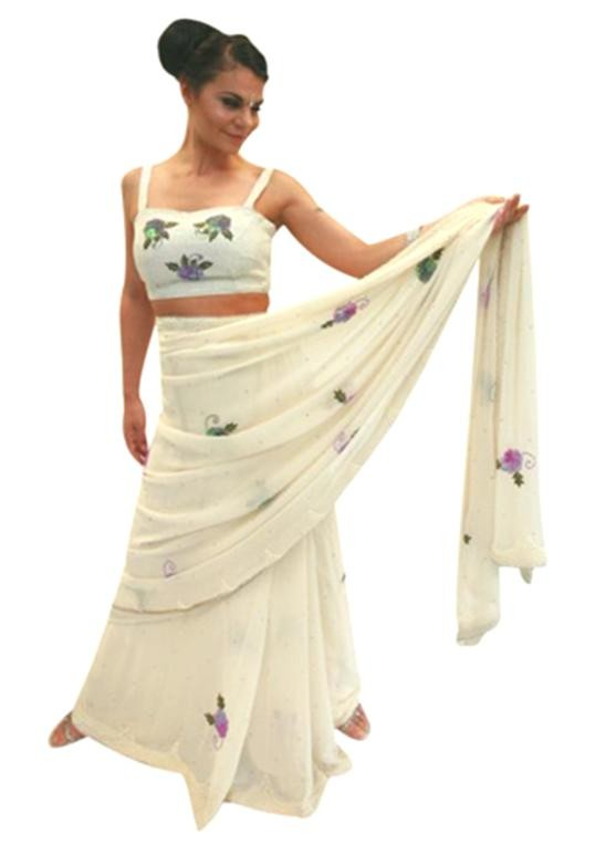 Pure Floral Sari