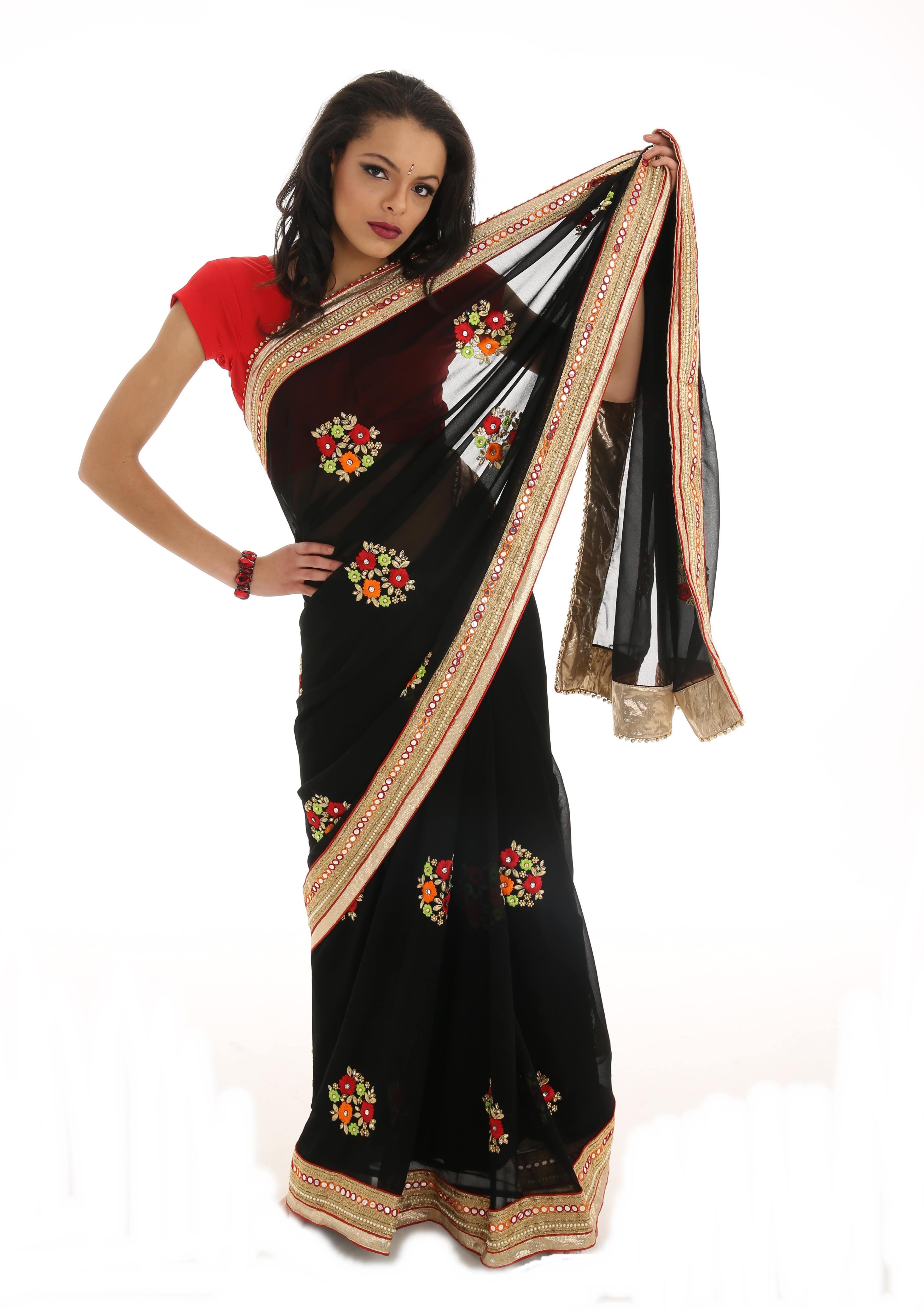Bollywood Floral Sari