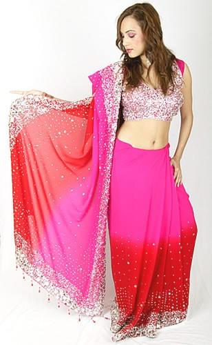 Designer Pink Sari