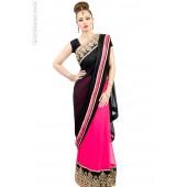Fuchsia Twist Sari